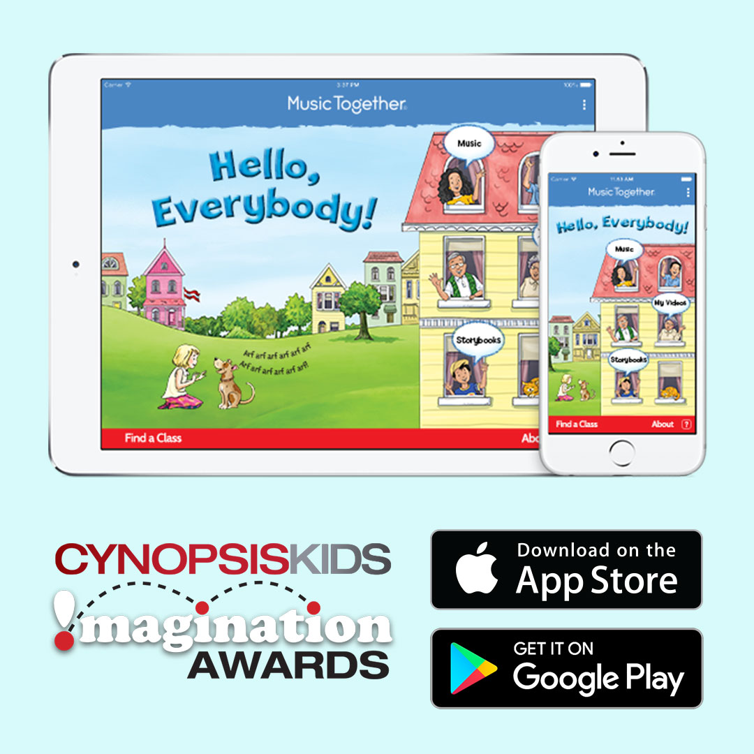 Music Together's award-winning Hello Everybody app